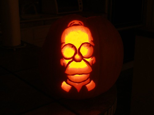 homer pumpkin | by gavinrobinson