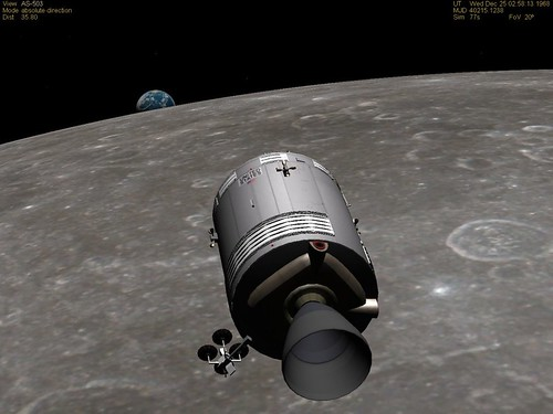 Apollo 8 CSM Earthrise Simulation Of The Time And