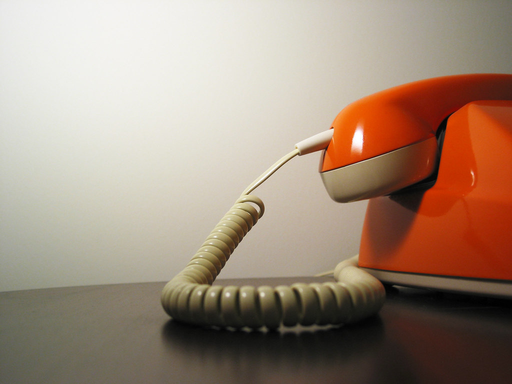 hotline vintage telephone orange of course in the veer flickr. Black Bedroom Furniture Sets. Home Design Ideas