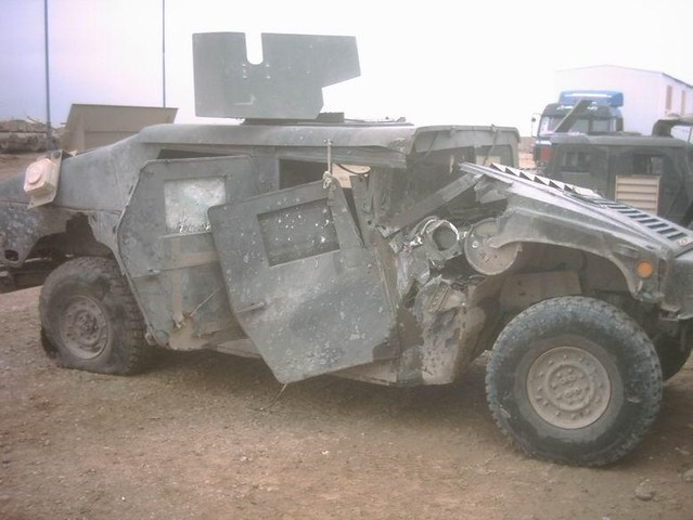 Humvee Damaged By Ied Humvee Destroyed In Iraq Unclear