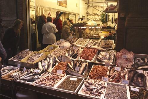 Bologna Fish Market A Fish Market On Via Drapperie