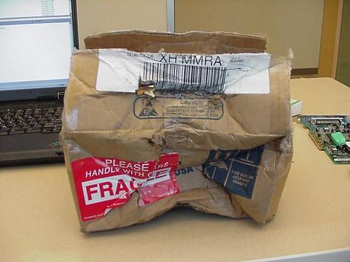 Amazon Delivery Broken Glass
