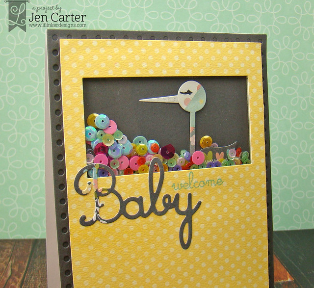 Jen Carter Baby Shaker Stork Closeup 2