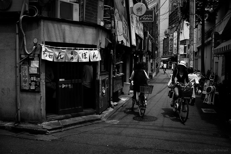 On a street corner