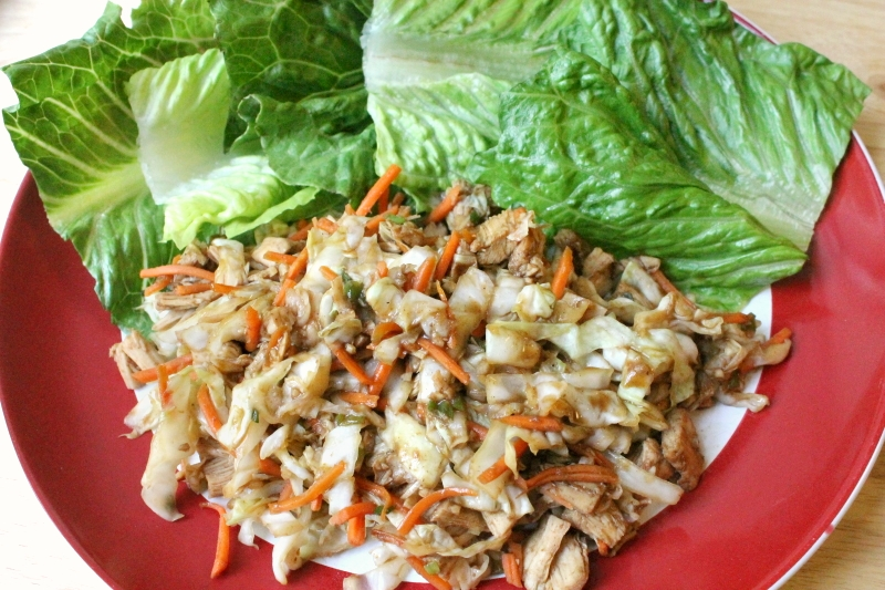 5:2 Chinese Hoisin Chicken Lettuce Wraps (210 calories)