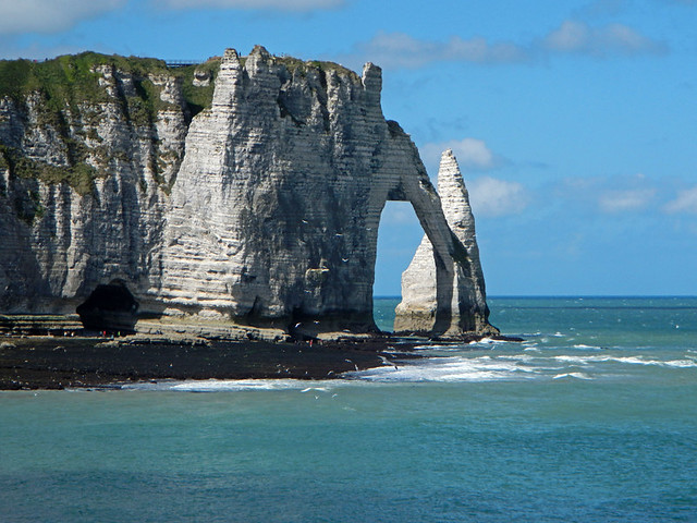 Unusual Rock Formations at Entretat on the Alabaster Coast of France