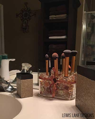 DIY Makeup Brush Holder by Lewis Lane