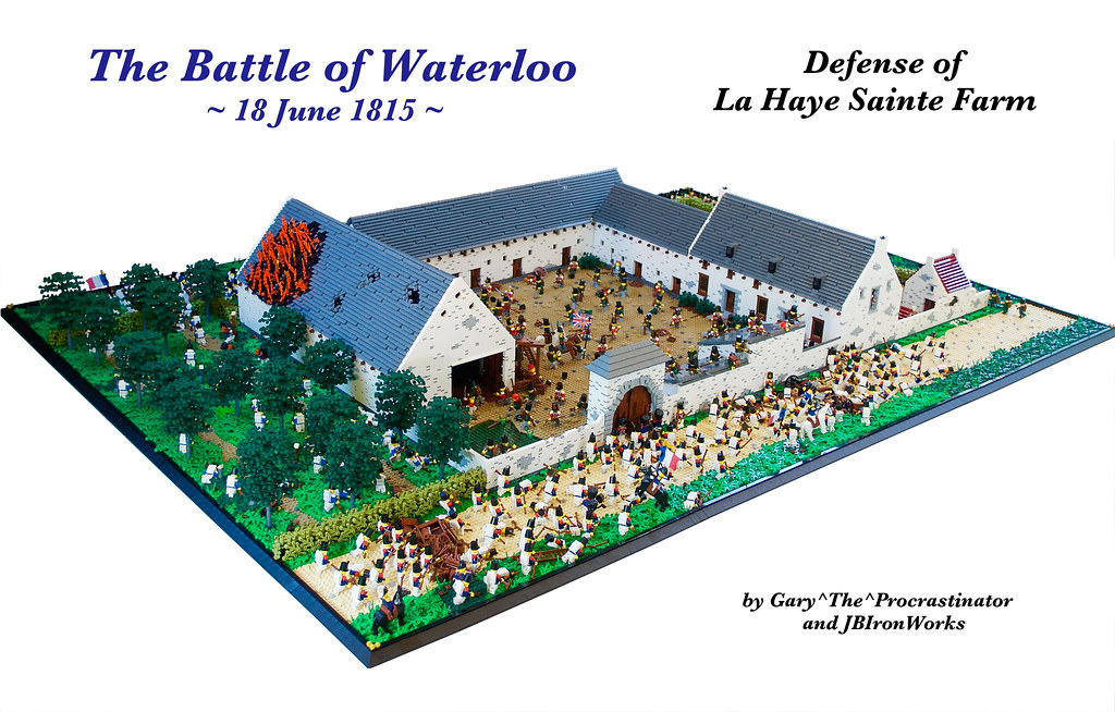 Battle of waterloo 39 s defense of la haye sainte farm flickr for Siege lego france