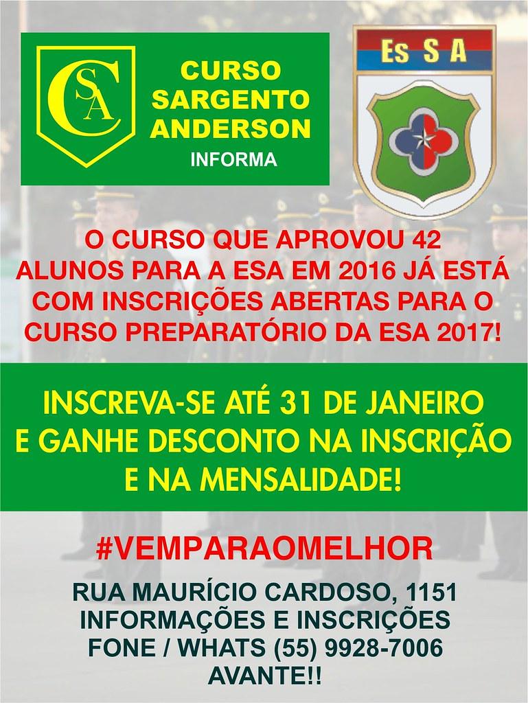 flyer curso sargento anderson - novo
