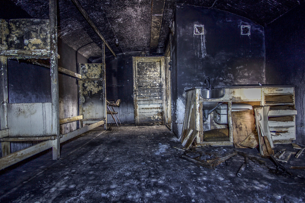 A Dark Kitchen Inside An Abandoned Command Central From