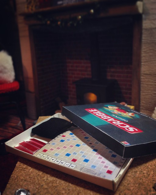 Max and Juno have the first of several festive Scrabble matches...