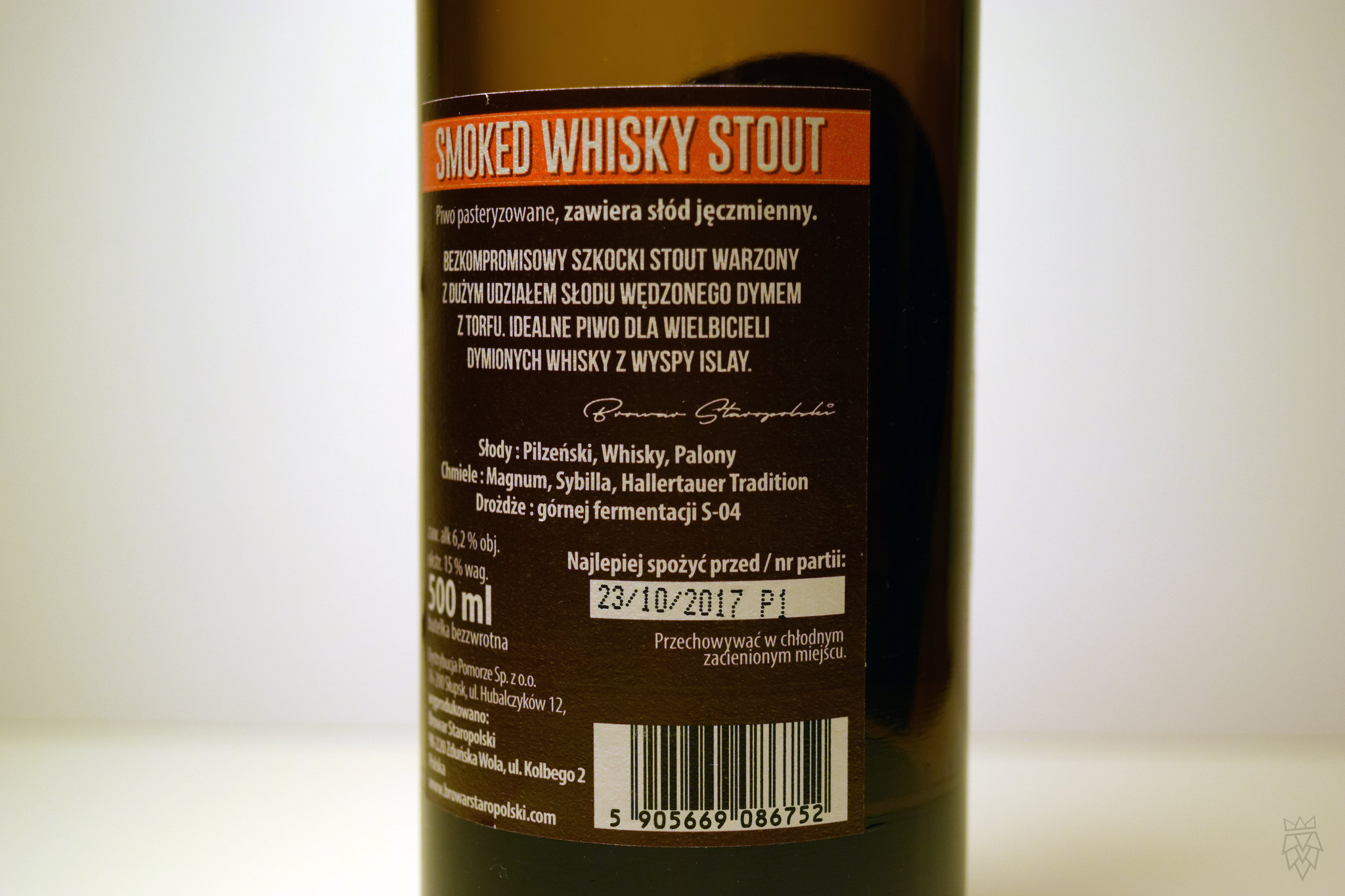 whisky stout etykieta