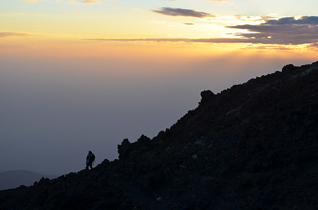 Racing the sunset, stargazing trip, Teide National Park, Tenerife