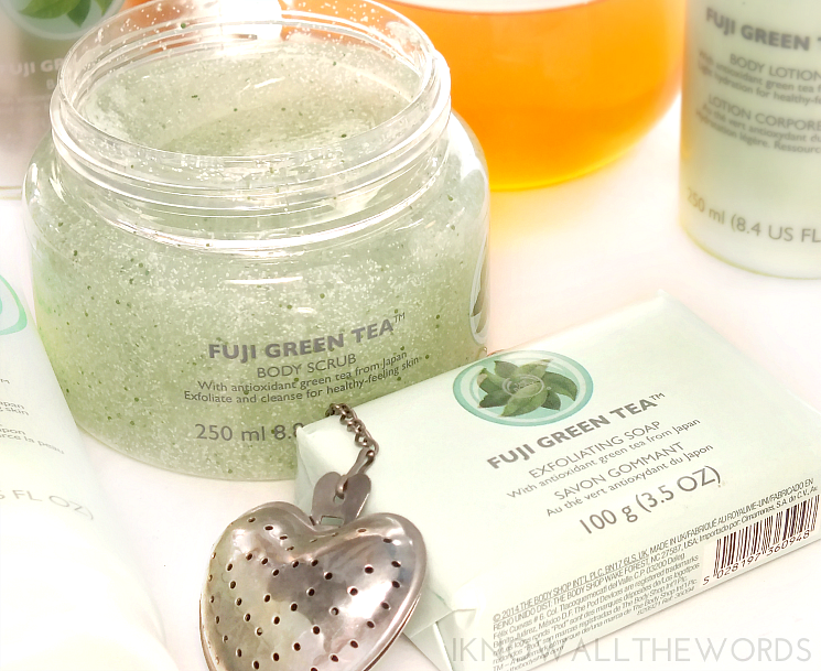 The Body Shop Fuji Green Tea Body Scrub Exfoliating Soap