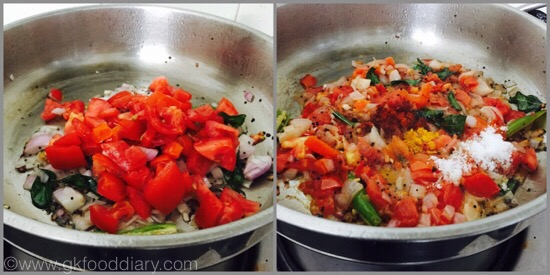 Tomato Gotsu with moong dal - step 2
