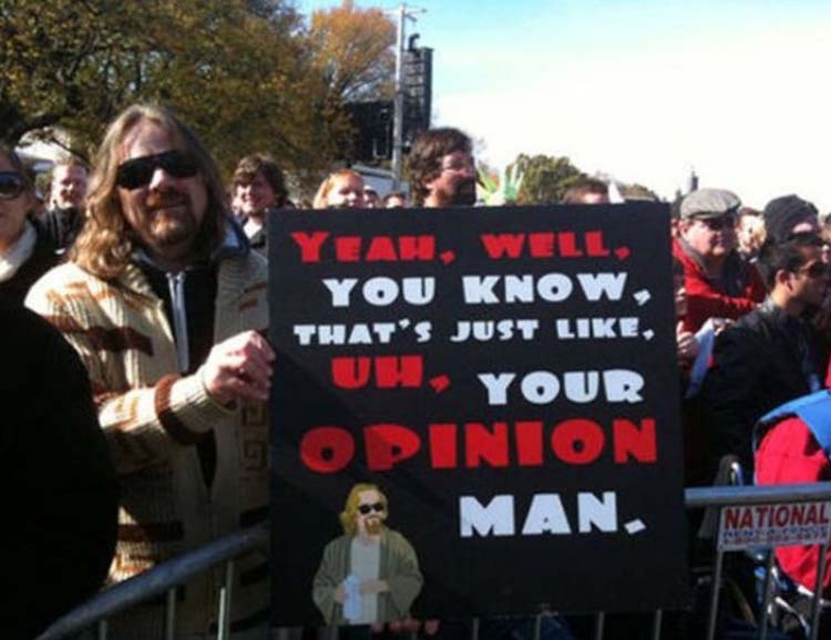Witty & funny protest signs #20: Well… You Know