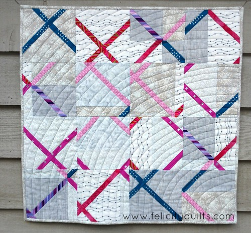 "MQG Swap, angel quilt: ""Cross Cut"""