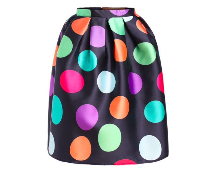 Flared skirt in 60's style