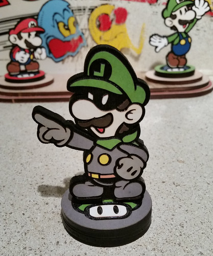 Custom Paper Mario Amiibo by SuperAmiigos - Mr. L