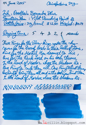 Noodler's Bernanke Blue on Clairefontaine | by Peninkcillin
