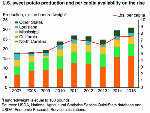 U.S. sweet potato production and per capita availability on the rise chart