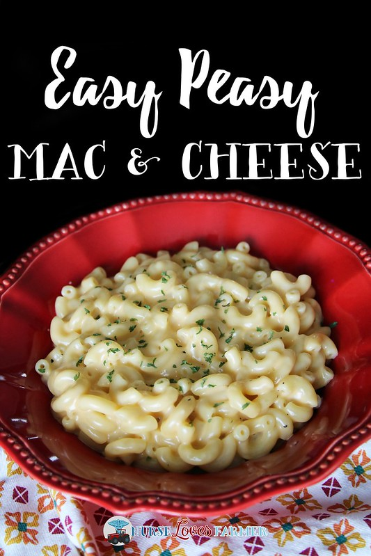 Easy Peasy Mac & Cheese. No chopping, no slicing, no baking, no breadcrumbs...just a really easy bare bones recipe that's quick and easy to make!
