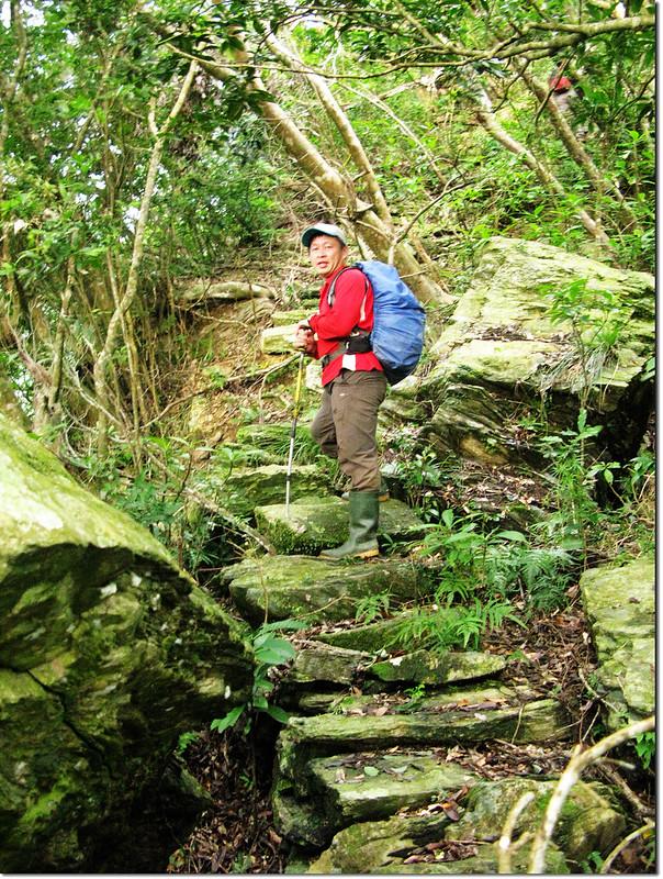 登論外山途中砌石石階 1