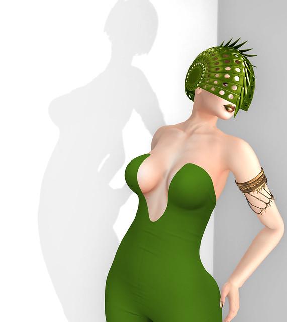 Escargot helmet - moss, Sascha's Designs