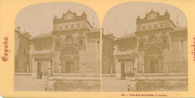 Hospital de Santa Cruz hacia 1863 por Ernest Lamy