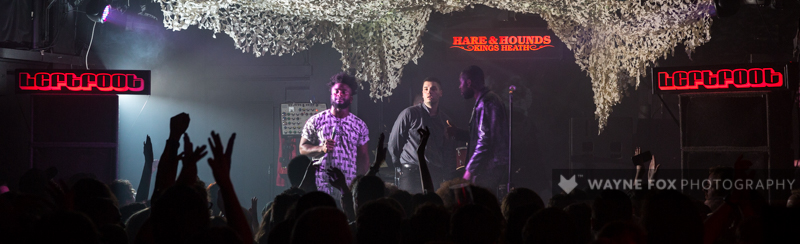 Young Fathers play at The Hare and Hounds in Birmingham, 03 June 2015.