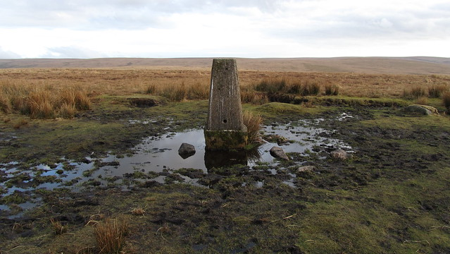 Ordnance Survey map fails to name the hill so I call it Trig Point 445 (metres)