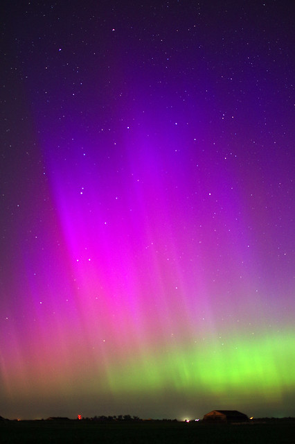 Northern Lights from south-central Nebraska, June 23, 2015 Aurora Borealis