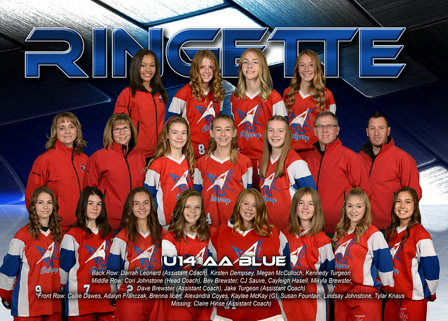 Team photo - U14AA Blue 2016-17