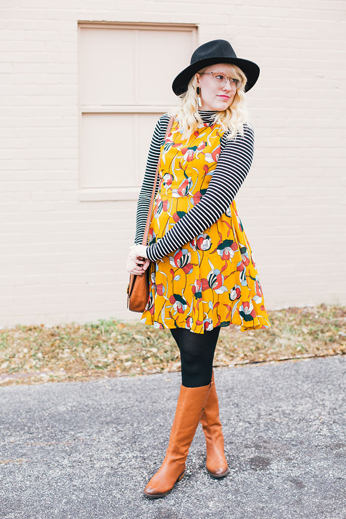austin style blog tissue turtleneck layered modcloth dress8