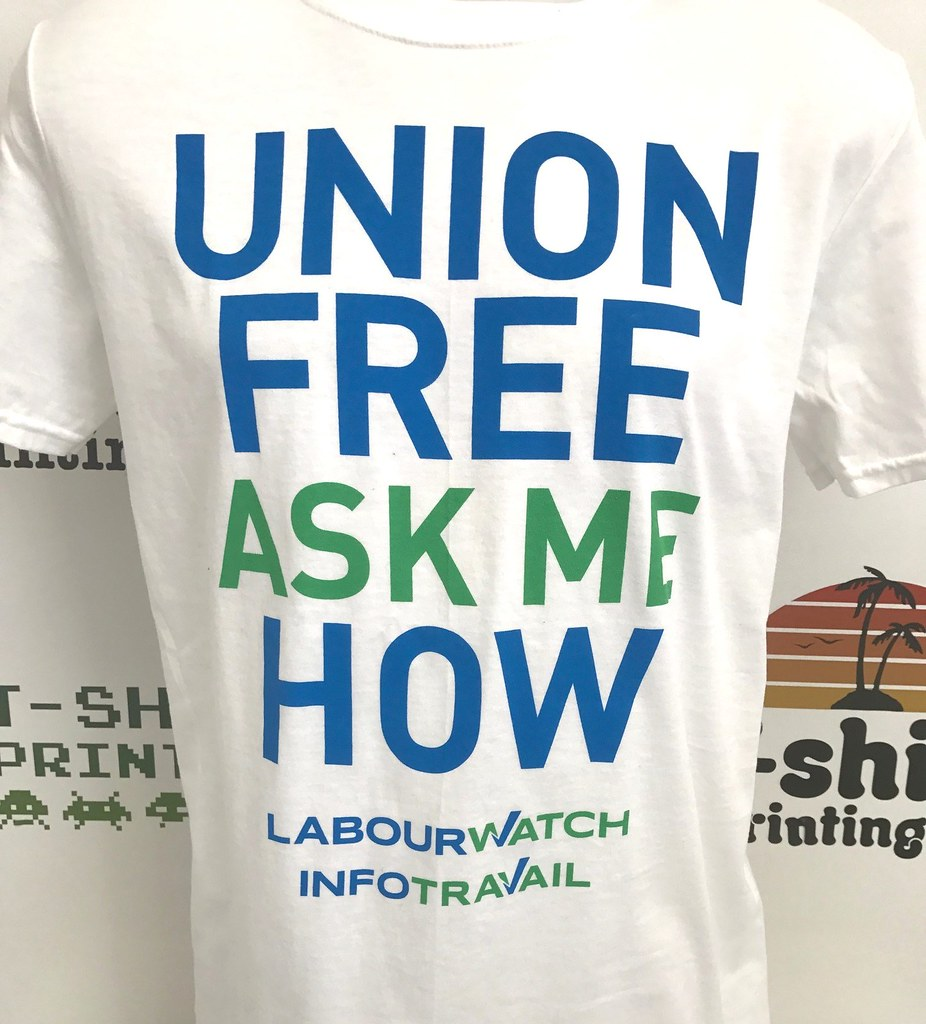 Screen printing vancouver labour watch labour watch www for Vancouver t shirt printing