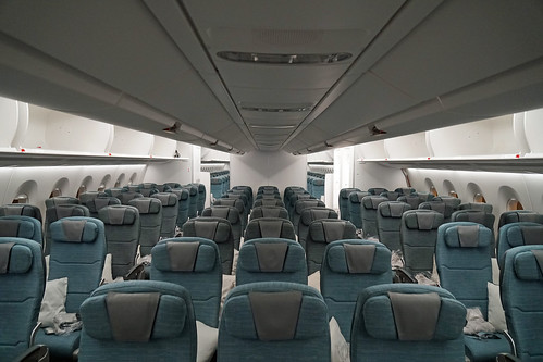 Cathay Pacific Economy Class Cabin