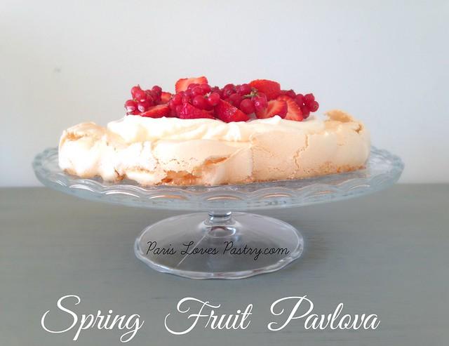 Spring Fruit Pavlova