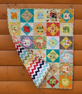 Economy Block Baby Quilt | by CoraQuilts~Carla