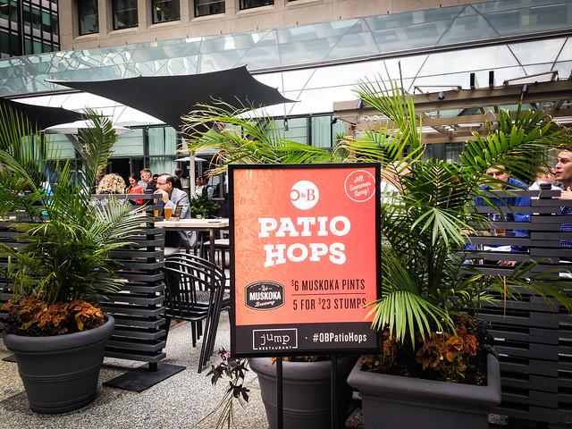 O&B Patio Hops Pop-Up at Jump!