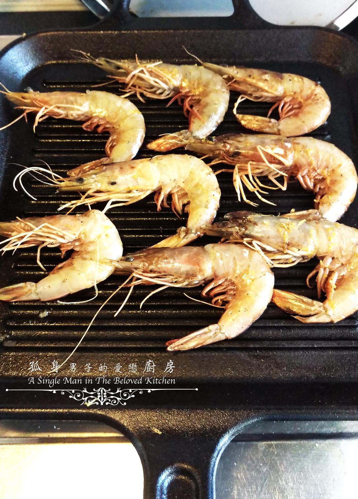 孤身廚房-墨西哥烤紅爐蝦酪梨芒果莎莎醬塔可(下)-烤紅爐蝦酪梨芒果莎莎醬4