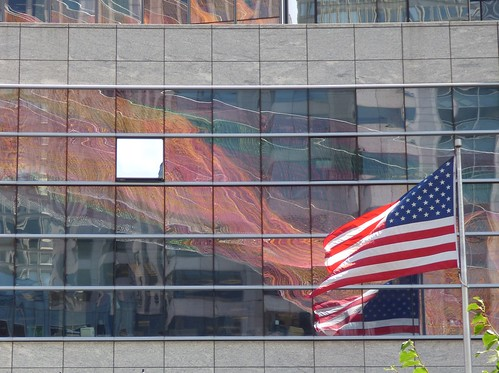 Flag with reflections