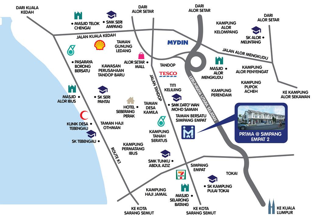 ALOR SETAR الور ستار Kedah State Capital City Page - Alor setar map