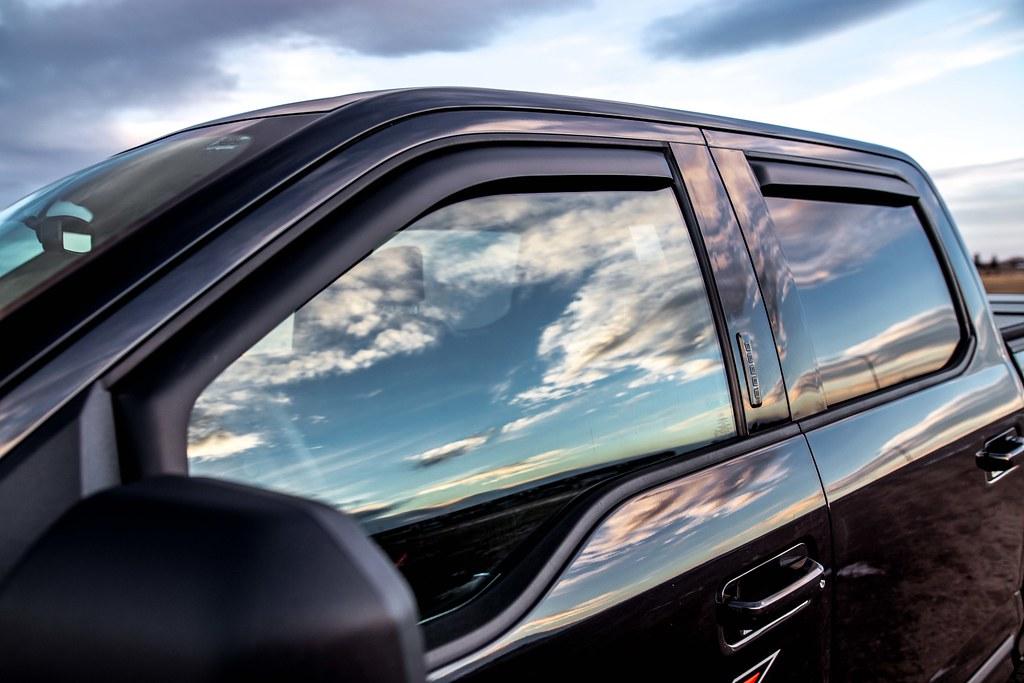 Black F150 2016 F150 With Matte Balck Egr Cab Spoiler