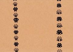 クラフト紙15_海水浴の白プレーンと黒プレーン
