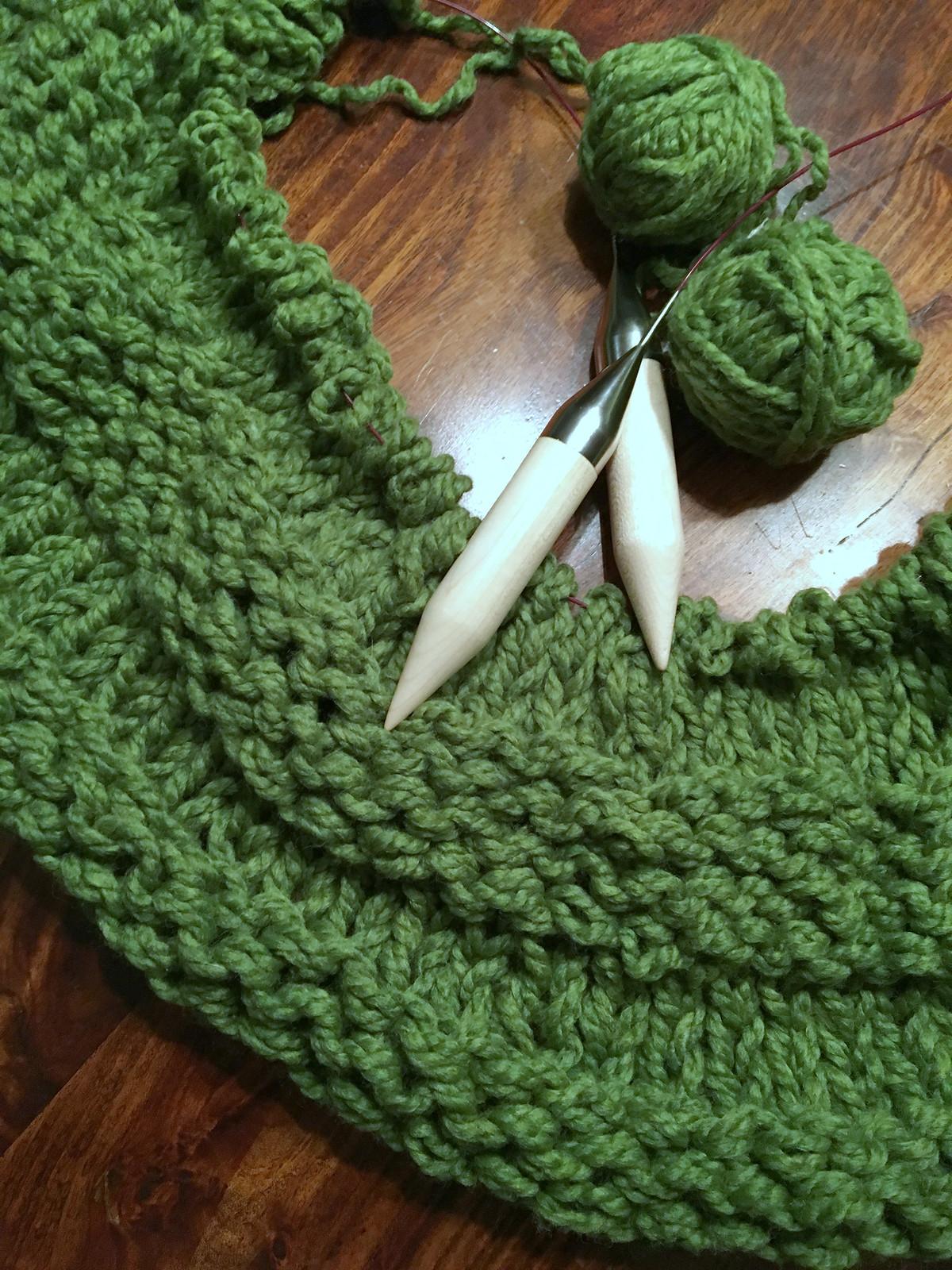 Green chunky blanket_2