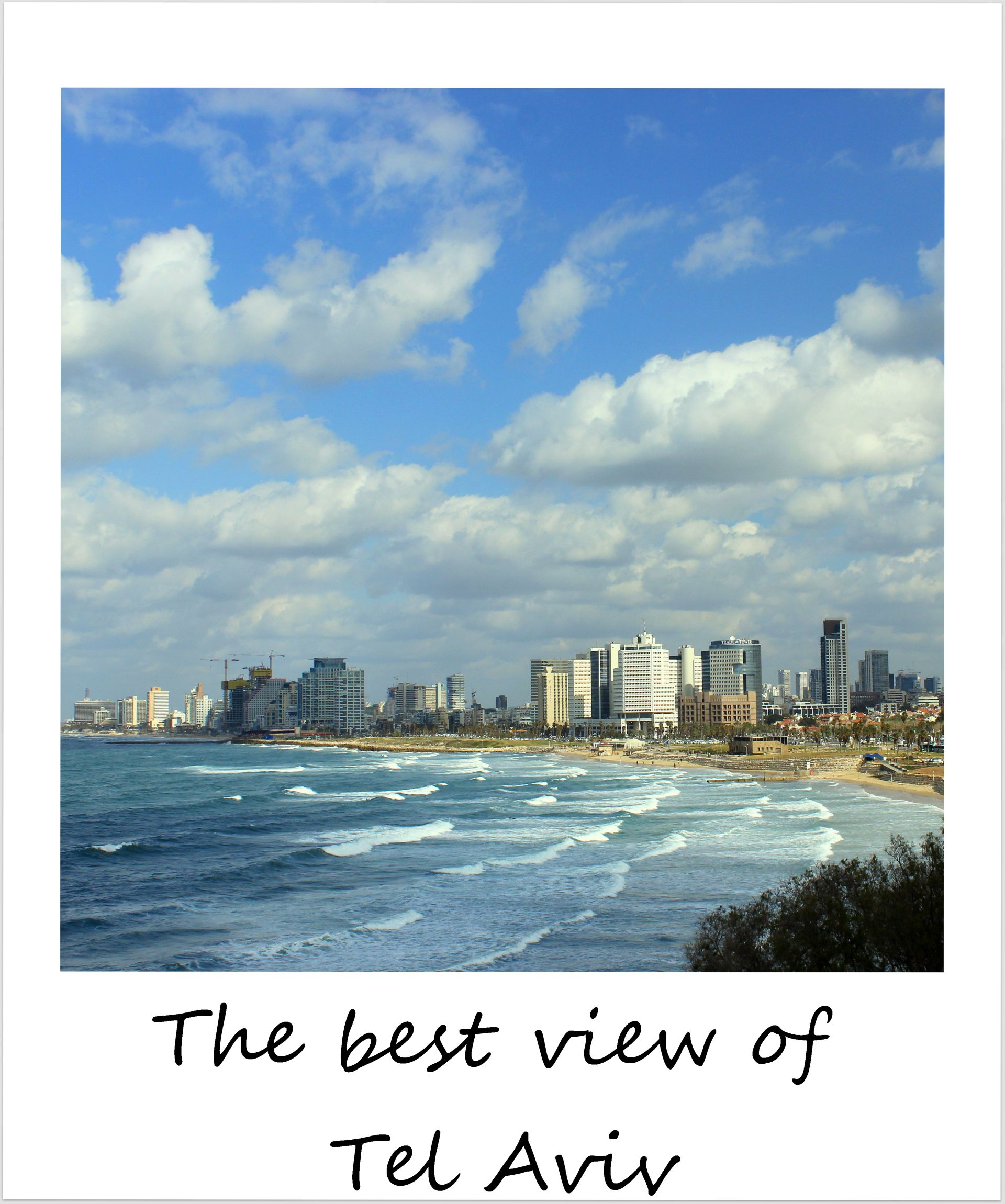 polaroid of the week israel tel aviv views