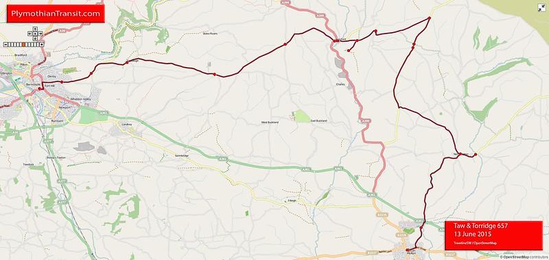 657 South Molton - Goodleigh - Barnstaple