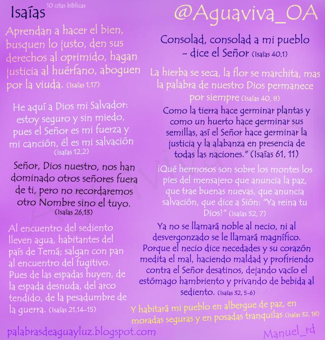 10 citas bíblicas del libro del profeta Isaías