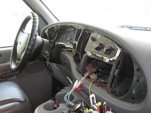 RV Net Open Roads Forum: Tech Issues: Removal of Ford E350 dash