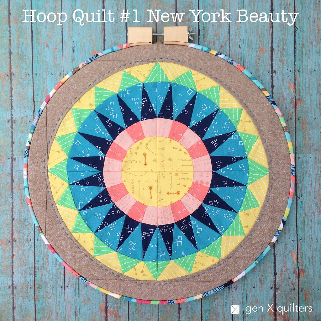 Hoop Quilt NY Beauty Blue Outsidelogo